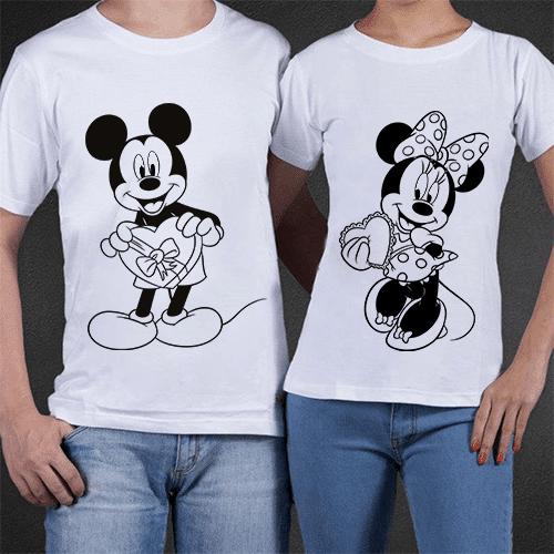 Coppia t shirt minnie & topolino mydigitalprint