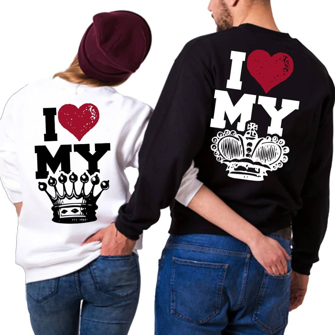 l'ultimo d822a 814ed Felpe King&Queen Coppia I Love My King/Queen - Linea You and Me